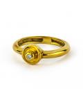 Solitario de Oro Amarillo con Diamante Central - Talla 11 [ES]