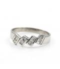 Sortija realizada en oro blanco con diamantes - Talla 18 [ES]
