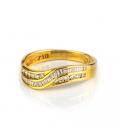 Sortija de oro amarillo con diamantes talla brillante y baguette - Talla 15 [ES]
