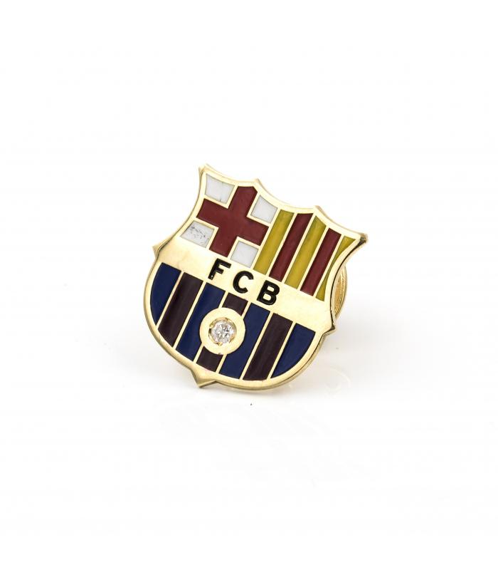 Emblema de oro del FC Barcelona con diamante central