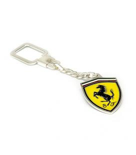 Llavero de Plata de Ley de Ferrari y esmaltado