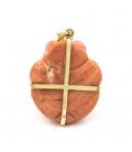 Gargantilla con Colgante de Oro amarillo y Coral natural del Pacifico - Peso 7,45 grs