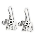 Par de Pendientes de Plata con forma de Elefantes