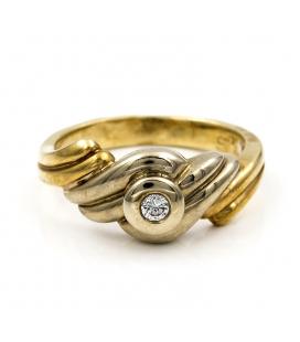 Sortija de Oro amarillo con Diamante