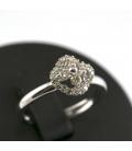Sortija en oro blanco con diamantes - Talla 16 [ES]