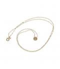 Gargantilla con cadena de oro amarillo con colgante incrustación de diamante