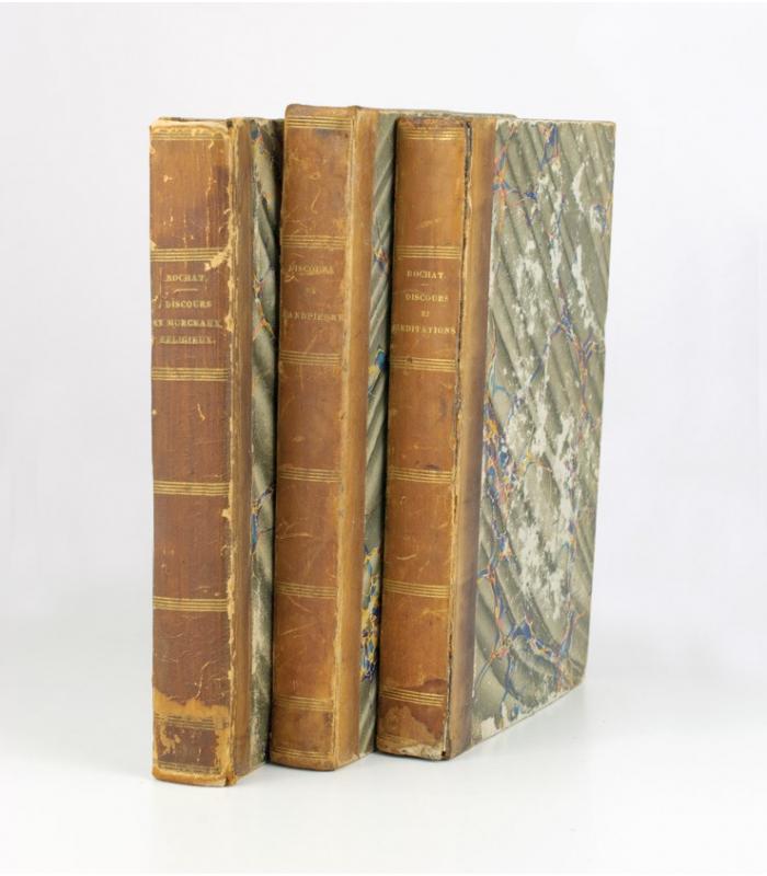 Tres Libros Religiosos A. Rochat y J. H. Grandpierre S.XIX