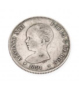 Moneda Española de plata – Alfonso XIII – 1891