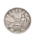 Moneda de plata Española del Gobierno Provisional