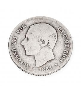Moneda de plata Española de Alfonso XII
