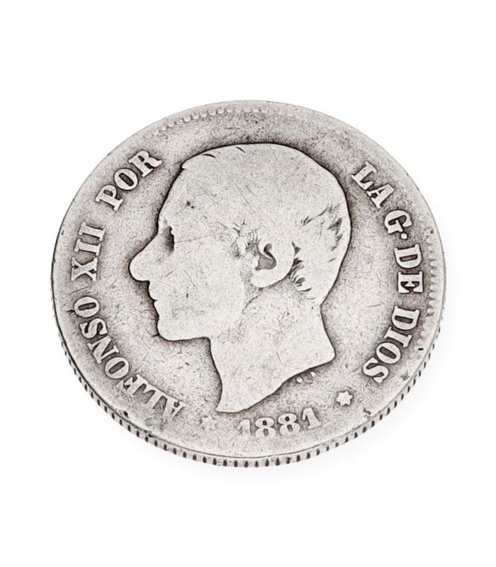 5d21f62ffb55 Moneda de plata Española de Alfonso XII