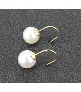 Pendientes de oro amarillo con perla