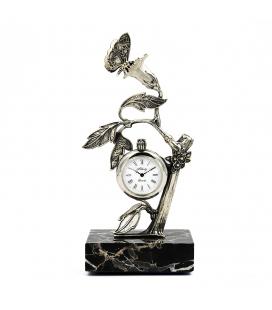Figura de reloj Alberti en plata de ley con motivo silvestre