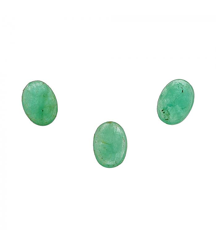 3 Esmeraldas de Talla Oval