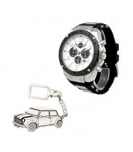 Conjunto de Reloj S&S de hombre y llavero de plata