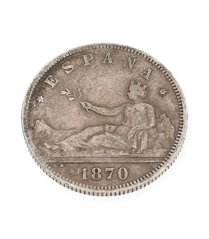 "Moneda de Plata ""2 pesetas"" 1870"