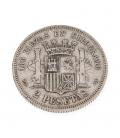 """Moneda de Plata Española """"2 pesetas"""" 1870"""