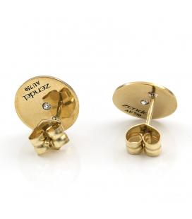 Pendientes Zendel de Oro amariilo con Diamantes