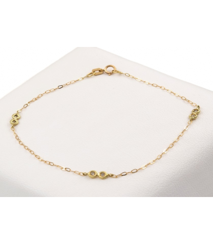 Pulsera de Oro amarillo con Diamantes