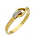 Sortija de Oro con Diamantes Diseño Nudo