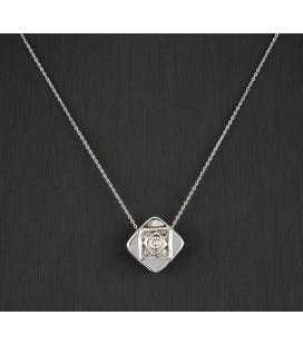 Gargantilla Oro blanco con Diamantes