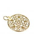 Colgante Oro Amarillo 18kt Filigrana Floral y Símbolos Tous