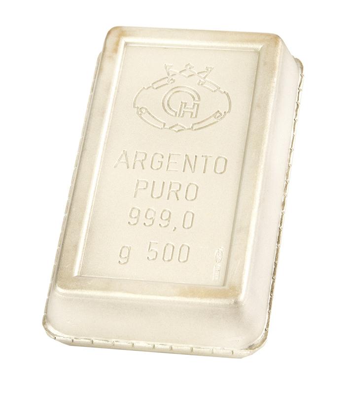 Lingote de 500 g de Plata Fina