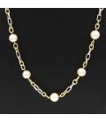 Collar bicolor con perlas Australianas