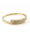 Sortija Oro amarillo con Diamantes brillantes