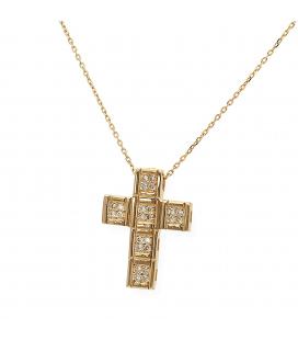 Gargatilla de Oro amarillo con Diamantes