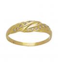 Sortija de oro amarillo con 14 diamantes