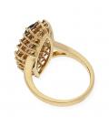 Sortija de Oro amarillo con Zafiro y Diamantes