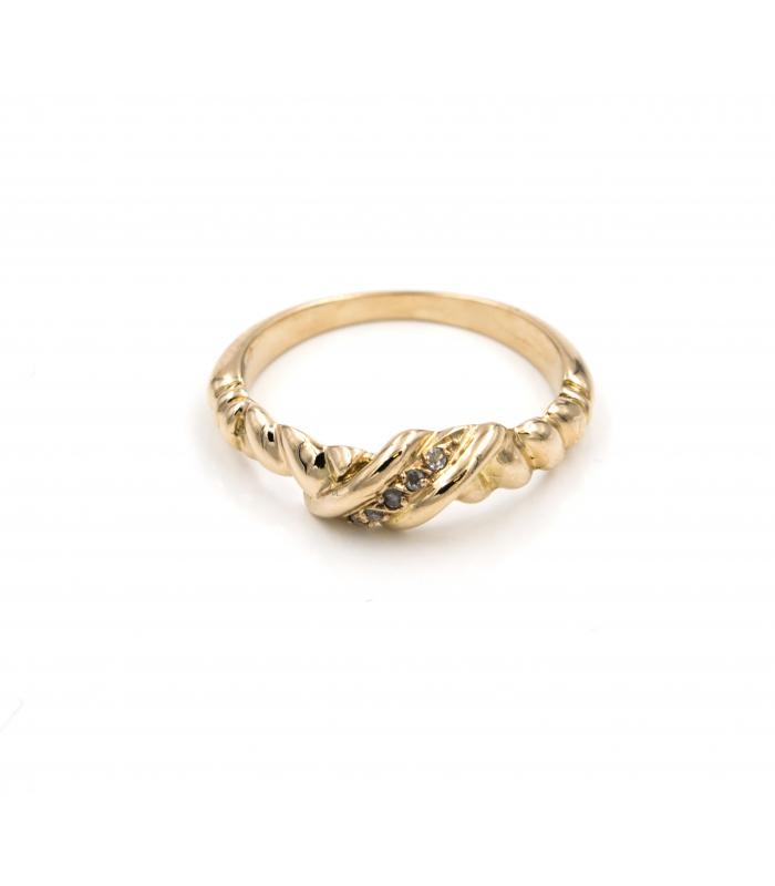 Sortija en Oro con Diamantes