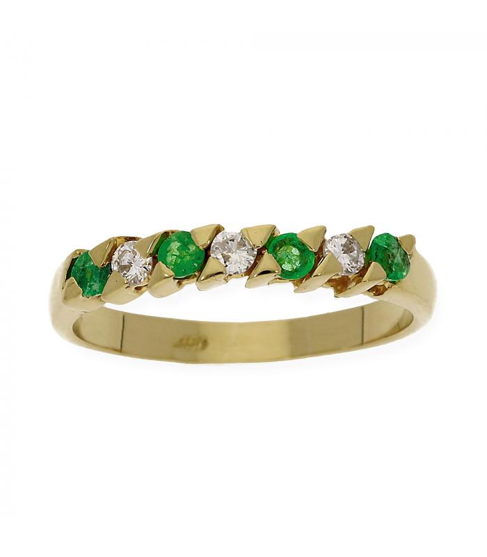 Media Alianza Oro amarillo con Diamante y Esmeralda