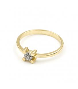 Solitario Oro amarillo con Diamante