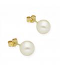 Pendientes Perlas Akoya de Japón y Oro de Ley 18k de 7,50 mm
