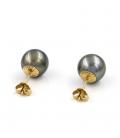 Pendientes Perlas de Tahití y Oro de Ley 18k