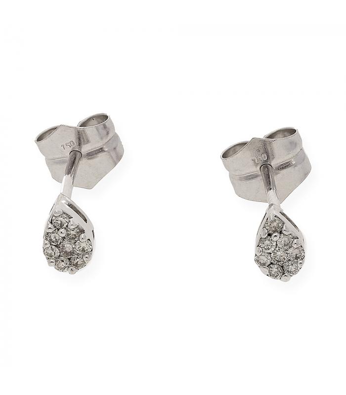 Pendientes oro blanco 18 kt (750)  diamantes