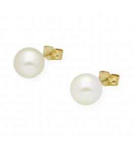 Pendientes Perlas Cultivadas y Oro de Ley 18k