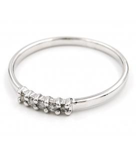 Anillo de Diamantes y Oro de Ley 18k