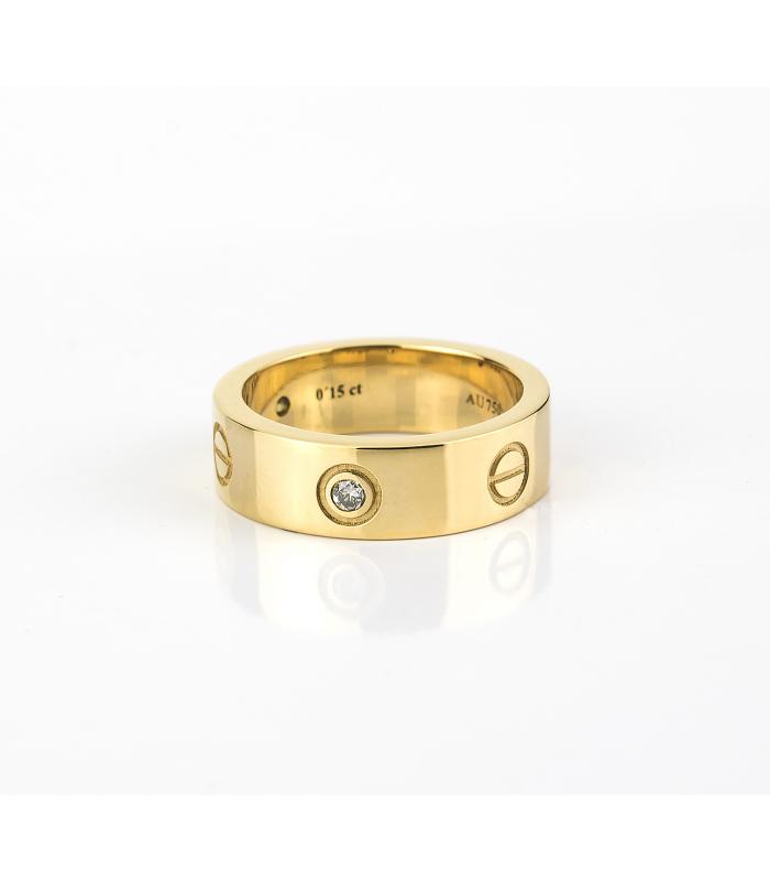 c99ecd6af4e2 Anillo estilo cartier con diamantes talla brillante en oro de ley de ...