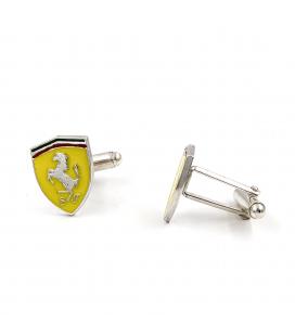 Gemelos Estilo Ferrari en Plata de Ley y Esmalte