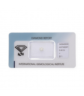 Diamante Talla Brillante de 0,42 ct J – SI 1