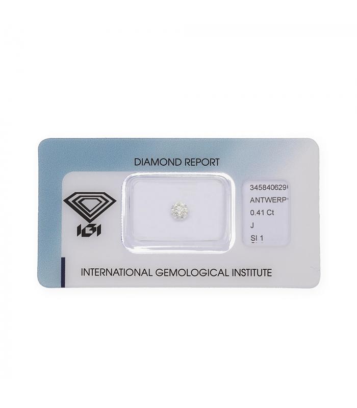 Diamante Talla Brillante de 0,41ct J – SI 1