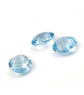 Conjunto de Topacios Azules Ovales