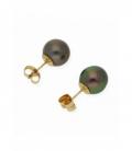 Pendientes de Perlas de Tahití y Oro de Ley 18 kt