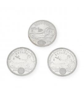Lote de Monedas Españolas de 2000 Pesetas del 1996 y 2001