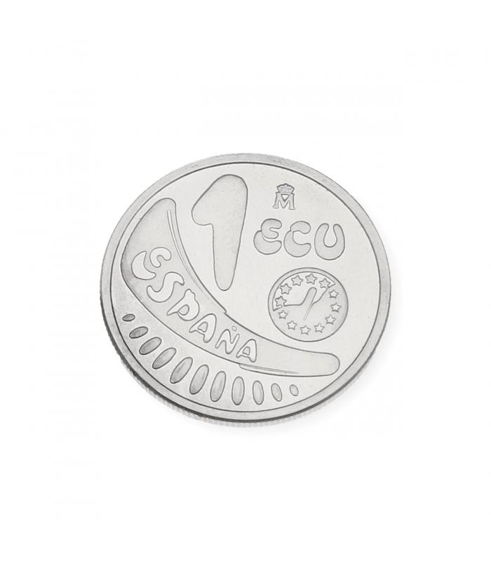 Moneda Pre-Euro 1 ECU Plata de Ley de 1989