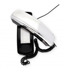 Teléfono vintage de sobremesa de plata contrastada de primera ley 925/1000.