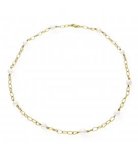 Collar oro 18 k perlas Akoya